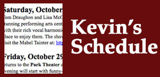 Kevin's Schedule